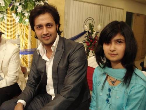 Atif aslam with a girl